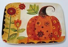 "14"" x 10"" FALL PUMPKIN PLATTER Ceramic, Gorgeous Colors, Never Used - Excellent"