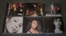 6 Mariah Carey CDs~Self-Titled~Music Box~Emotions~#1s~Daydream~Unplugged EP