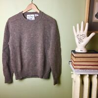 Vintage Nino Cerruti Paris Crewneck Shetland Wool SweaterLarge L Brown