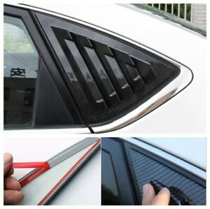 For Nissan Sentra 2013-2019 Carbon Fiber look Side Vent Window Scoop Louver Trim