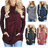Womens Cowl Neck Pocket Sweatshirt Long Sleeve Pullover Blouse Top Sweater Shirt