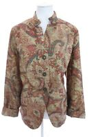 Coldwater Creek Paisley Print Woven Tapestry Style Colorful Blazer Jacket Sz 18W