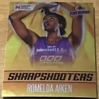 Romelda Aiken Firebirds Sharpshooters 2018 Super Netball Card #SS-4