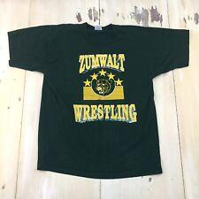 Ft Zumwalt Wrestling - Vtg 90s Dark Green High School T-shirt, Mens Large