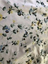"LAURA ASHLEY POLYANTHUS PRIORY BLUE&YELLOW FLORAL DRAPES 86""LONG"