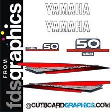 Yamaha 50hp outboard engine graphics/sticker kit