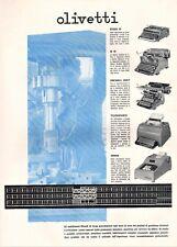 PUBBL. 1940 OLIVETTI IVREA MODELLI M40 SUMMA TELESCRIVENTE AUDIT M40 STUDIO 42