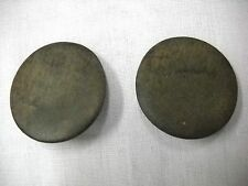 DARK GRAY DRAB CAMO WOOD ROUND BUTTON SHAPE STUD POST FASHION PIERCED EARRINGS