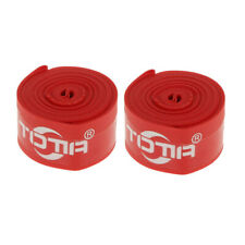2Pcs 700C Bicycle Rim Tape Anti-Puncture Tire Inner Tube Tyre Protector Red
