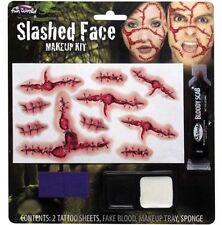 Efecto 3D Tatuajes de terror redujeron Cara Fancy Dress Make Up Set ref 5685