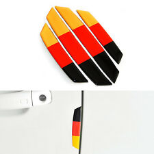 4PCS 3D Germany Style Euro Car Side Door Edge Protection Guard Trims Stickers