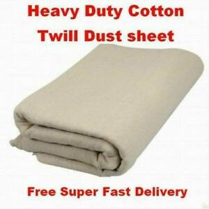5 x 12ft (1.5M x 3.6M) DUST Sheet Large Heavy Duty Bolton Twill Cover DIY PAINT