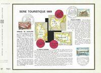 FEUILLET CEF 1er JOUR FRANCE SÉRIE TOURISTIQUE 1969