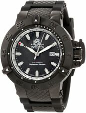 Invicta Men's 0736 Subaqua Noma III Black Polyurethane Collector's Edition Watch