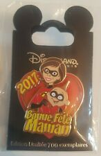 Pin's Disney LES INDESTRUCTIBLES THE INCREDIBLES BONNE FETE MAMAN 2017 EL 700