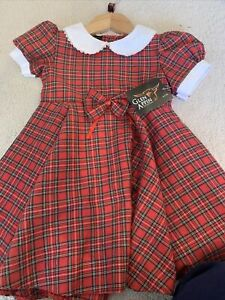 Baby Kids Girl Toddler Tartan Dress Royal Stewart Plaids Skirt Summer Party