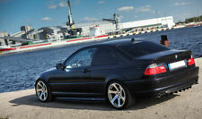 For BMW E46 Coupe Cabrio Performance Sideskirt Blades Add on Valance Side Skirts