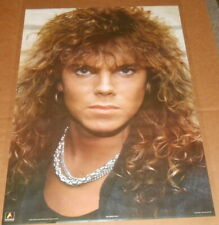 Joey Tempest 1987 Poster 35x24 Europe (silver chain) Rare