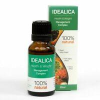 IDEALICA - Gotas 20ml. Acelera el metabolismo y suprime la sensación de hambre.
