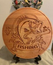 fishing sign Wood