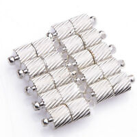 10 Séries Fermoir Argenté Spiral Grain Magnétique Pour Bracelet Collier 15x5mm