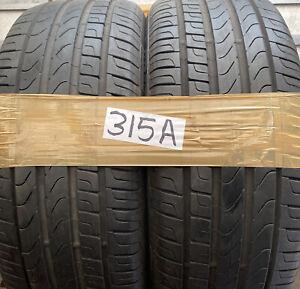 225 45 18 Pirelli P7 Runflats   ⭐️91V 2254518 ⭐️Pworn tyre 6mm  X2
