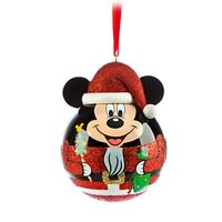 Disney STORE EXCLUSIVE  Mickey Mouse SANTA Nutcracker Ornament - RED