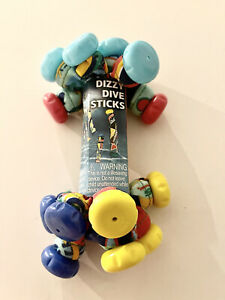 Play Day - Dizzy Dive Sticks - 8 Pack, Red, Blue, Yellow, Lt. Blue - Pool Toys
