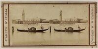 Venezia Gondola Italia Foto G.S.Stereo PL53L3n19 Vintage Albumina c1860