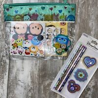 Tsum Tsum Stationery Bundle Disney Stickers Pencils Erasers Note Pad Pouch