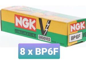 NGK BP6F x 8  Spark Plugs 'V' Groove For Ford Cleveland V8 302 351