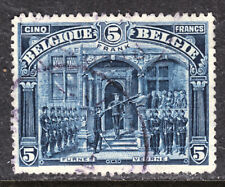 BELGIUM #121 5fr DEEP BLUE, 1915-20, VF, USED