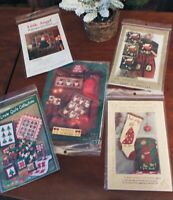 NEW Quilt Patterns LOT of 5 Christmas Holiday Mumms The Word Little Quilts