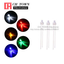 100Pcs 5Lights 2mm Round Top Water Clear LED Diodes White Red Blue Mix Kits