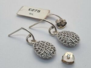 Links Of London HOPE EGG TOPAZ DROP earrings silver Kate Middleton new with tags