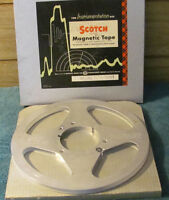 """Scotch Reel to Reel 10 1/2"""" Metal Tape with Box - Take Up Reel, No Tape on it"""