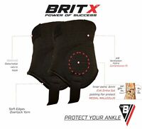 BRITX Ankle Guards Football Hockey Soccer Protectors Pads Shields Shin Adult