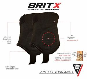 BRITX Ankle Guards Football Hockey Soccer Skates Protectors Pads Shin Adult Ball