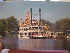 Vintage Disneyland Unused Postcard of The Mark Twain Sternwheeler