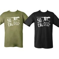 ARMY T-SHIRT 50 CAL SNIPER REACH OUT TOUCH SOMEONE MENS S-2XL 100% COTTON TOP