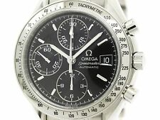 Polished OMEGA Speedmaster Date Steel Automatic Mens Watch 3513.50 (BF088205)