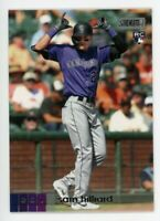 2020 Topps Stadium Club #98 SAM HILLIARD Colorado Rockies PHOTO Rookie Card RC
