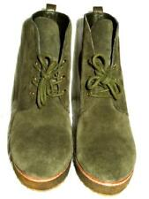 2197e4f2165d TORY BURCH Vikki Green Suede Wedge Ankle Boots Shoes 11