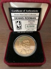 Dennis Rodman Highland Mint Medallion Limited Edition Bronze Coin #2009 / 12,500