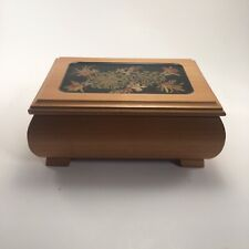 Vintage Mapsa Wooden Music Box! Plays Eidelweiss. Made In italy