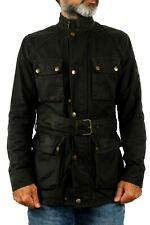 BELSTAFF Gold Label Vintage Wax COTTON Black Casuals Biker Motorcycle Jacket M