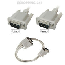 2M DB9 9 Pin Male to RS232 Male Serial Port Computer PC LCD Camera Cable D060