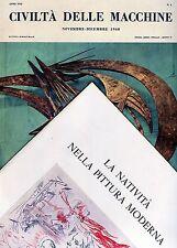 Francesco D'Arcais CIVILTÀ DELLE MACCHINE n° 6  NOVEMBRE -  DICEMBRE 1960
