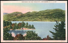 LAKE GEORGE NY Northwest Bay Tongue Mt Vtg Postcard