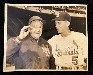 1963 Apr 9th Opening Day Mets vs Cardinals Casey Stengel John Keane Type 1 Photo